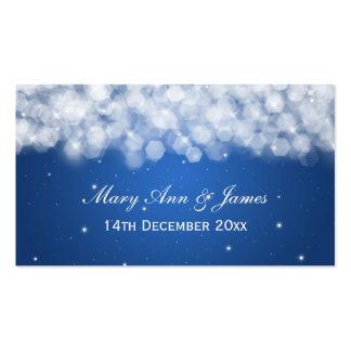 Elegant Wedding Favor Tag Party Sparkle Blue Pack Of Standard Business Cards
