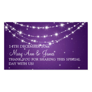 Elegant Wedding Favor Tag Sparkling Chain Purple Business Card
