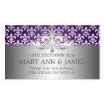 Elegant Wedding Favour Tag Fleur De Lis Purple Business Card Templates