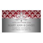 Elegant Wedding Favour Tag Fleur De Lis Red Business Card