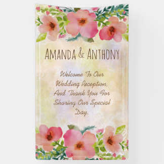 Elegant wedding floral watercolor