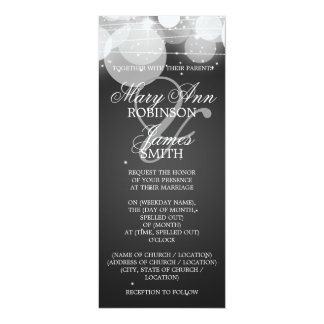 Elegant Wedding Glow & Sparkle Black Card