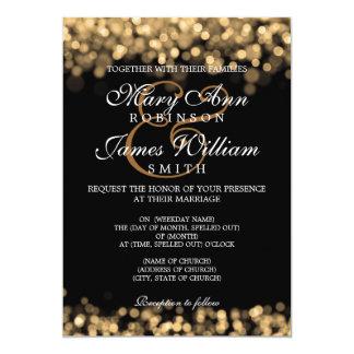 Elegant Wedding Gold Lights 5x7 Paper Invitation Card