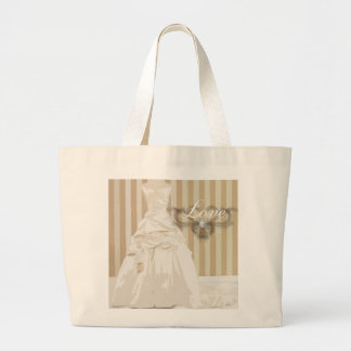 Elegant Wedding Gown Wedding Favor Tote Bags