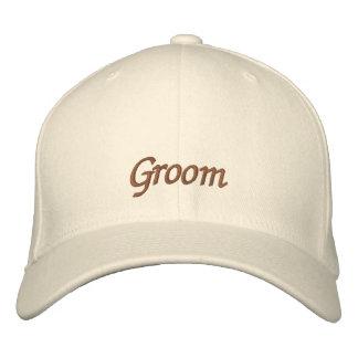 Elegant Wedding Groom Embroidered Cap