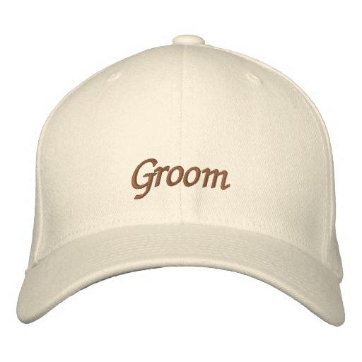 Elegant Wedding Groom Embroidered Baseball Caps
