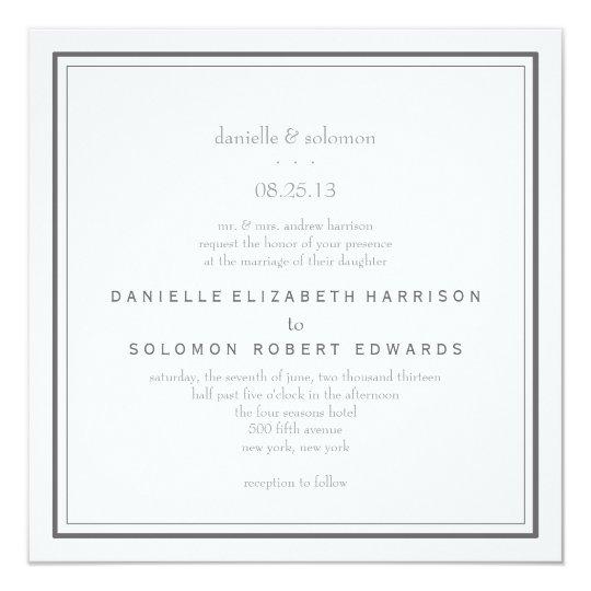 Elegant Wedding Invitation - Change Background
