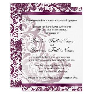 Elegant Wedding Invitation - Purple 5x7