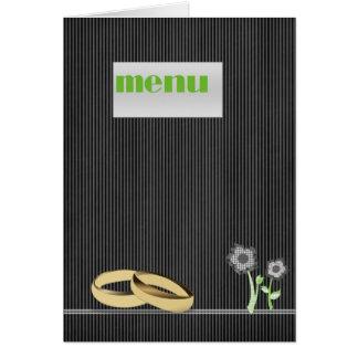 Elegant Wedding Menu Card