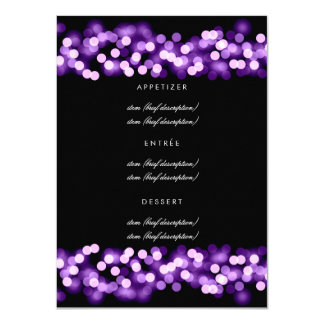 Elegant Wedding Menu Purple Hollywood Glam Card
