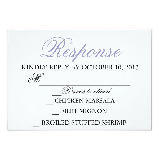 Elegant Wedding Modern Invitation Response Card