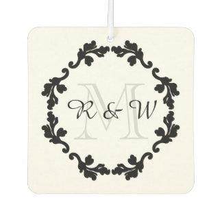 Elegant wedding monogram | just married