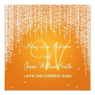 Elegant Wedding Night Dazzle Orange Card