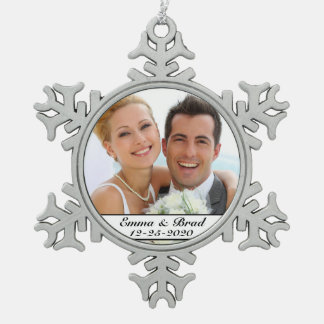 Elegant Wedding or Anniversary Christmas Ornament