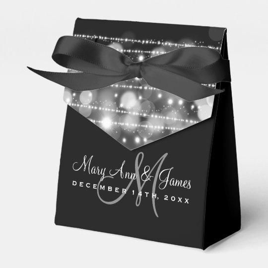 Elegant Wedding Party Sparkles Silver Favour Box