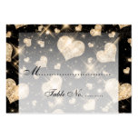 Elegant Wedding Placecards Gold Glitter Hearts