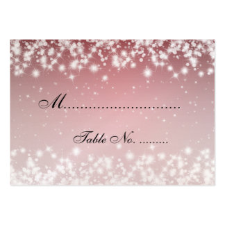 Elegant Wedding Placecards Winter Sparkle Red Business Cards