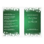 Elegant Wedding Program  Magic Sparkle Green 21.5 Cm X 28 Cm Flyer