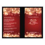 Elegant Wedding Program Sparkling Lights Gold Flyers