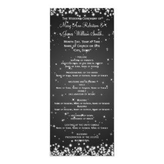 Elegant Wedding Program Winter Sparkle Black