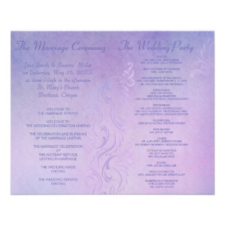 Elegant wedding programs - Purple 11.5 Cm X 14 Cm Flyer