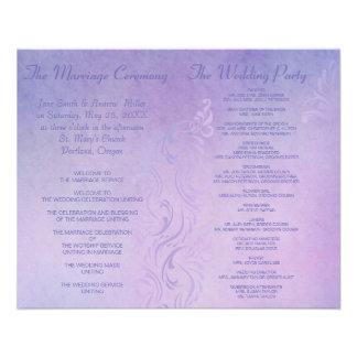 Elegant wedding programs - Purple 11.5 Cm X 14 Cm Flyer