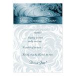 Elegant Wedding Response Cards Floral Leaf Teal