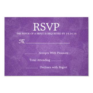 Elegant Wedding RSVP Romantic Paris Purple 9 Cm X 13 Cm Invitation Card