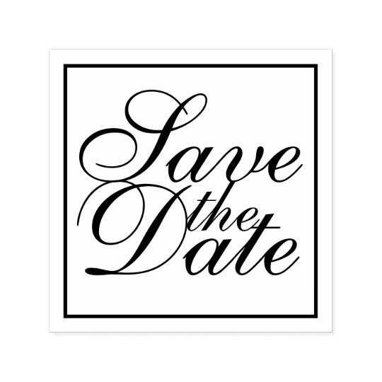 Elegant Wedding Save the Date Self-inking Stamp