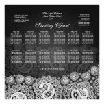 Elegant Wedding Seating Chart Paisley Lace Black Poster