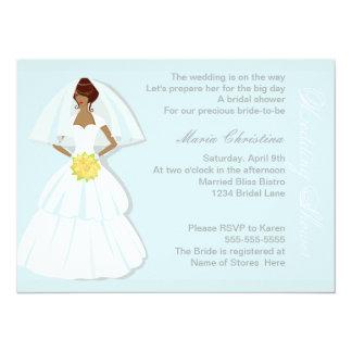 "Elegant Wedding Shower Invitation 5.5"" X 7.5"" Invitation Card"