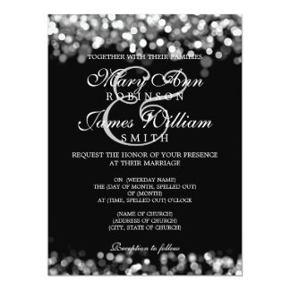 Elegant Wedding Silver Lights 17 Cm X 22 Cm Invitation Card