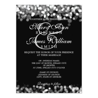 Elegant Wedding Silver Lights 17 Cm X 22 Cm Invitation Card