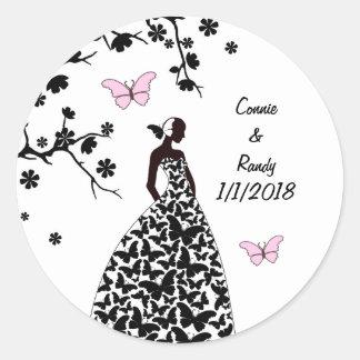 Elegant Wedding Sticker Bride made Butterflies