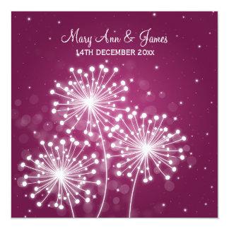 Elegant Wedding Summer Sparkle Merlot Pink Card