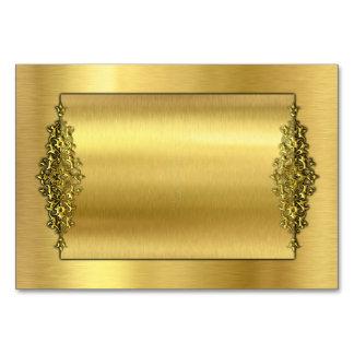 Elegant Wedding TableCards, Gold Table Cards