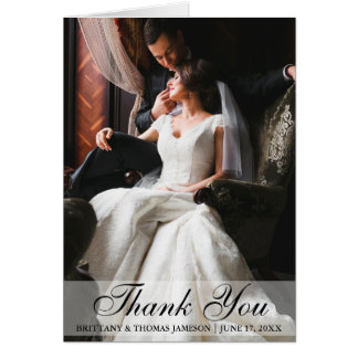 Elegant Wedding Thank You Photo Folding Card