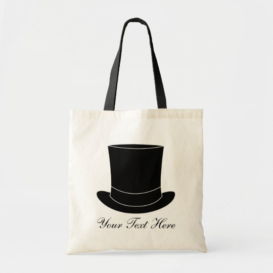Elegant wedding tote bag with tophat | Personalise