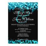 Elegant Wedding Turquoise Lights 13 Cm X 18 Cm Invitation Card