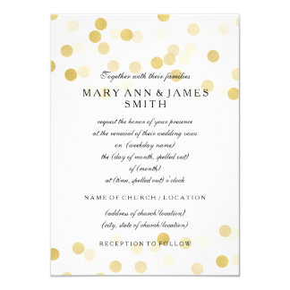 Elegant Wedding Vow Renewal Faux Gold Foil Glitter Card