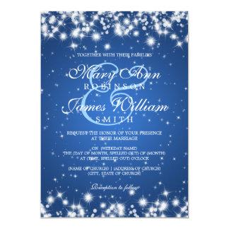 Elegant Wedding Winter Sparkle Blue 13 Cm X 18 Cm Invitation Card