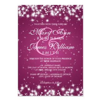 Elegant Wedding Winter Sparkle Pink 13 Cm X 18 Cm Invitation Card