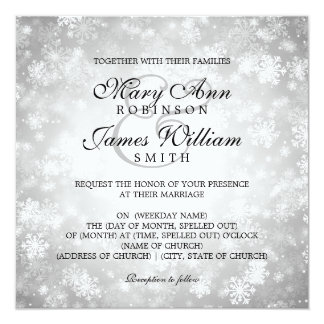 Winter Wonderland Wedding Invitations Announcements Zazzlecouk