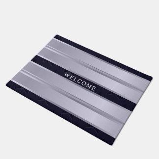 Elegant Welcome Purple Design Doormat