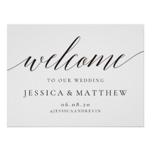 c8e13945b Elegant Welcome Wedding Sign