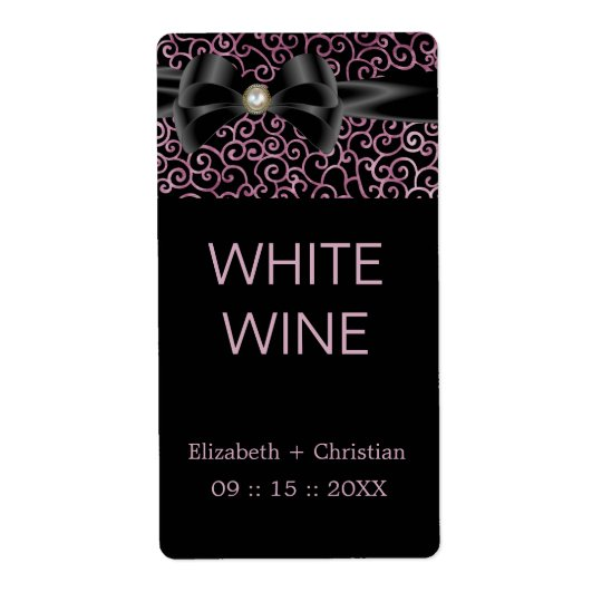 Elegant Whispers Wine Label Shipping Label