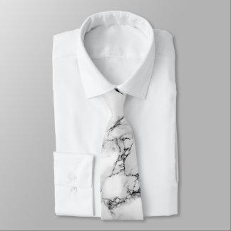 elegant white and black marble texture tie