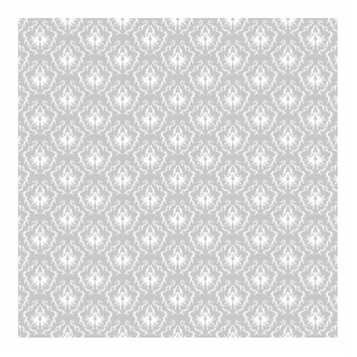 Elegant White and Gray Pattern. Damask. Cut Out