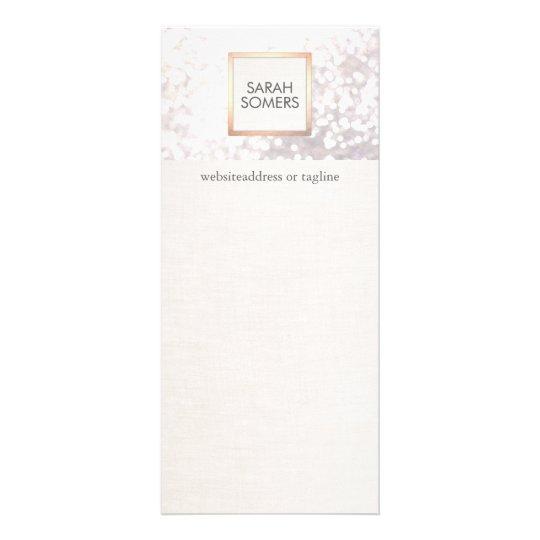 Elegant White Bokeh Glitter and FAUX Linen Full