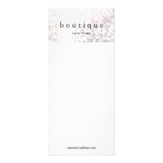 Elegant White Bokeh Glitter Menu and Price List Rack Cards